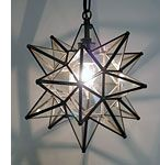 Entryway: mexican glasss hanging star light - Direct from Mexico $79.80