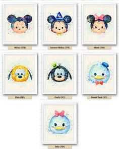 Disney Sorcerer Mickey Watercolor Art Burlap Print, Tsum Tsum, Watercolor Painting, Nursery Decor, Baby Room, Kids Decor, Home Decor, Gift, Wall Art, Baby Shower Decor, Baby Room Decor, Kids Room, Wall Decor, Illustration, Artwork, NA379  ******** Buy 2 Prints, Get 3rd Print FOR FREE ********   *Buy 2 Get 1 * Buy 4 Get 2 * Buy 6 Get 3 * Buy 8 Get 4 *  #Step 1 : You could directly to purchase any 2 prints or more print(s);  #Step 2 : Please mark the LINK / URL / Full Tittle at the no...