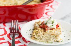 Skinny Mom Green Chili Chicken Lasagna recipe