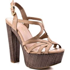 Jessica Simpson Cizal - Nude ($99) found on Polyvore
