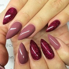 Autumn Look Gel Nail Nail. I'm not into stiletto nails. I love the colors ♡