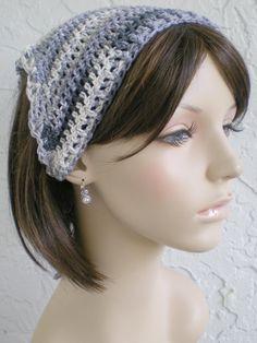 hand crochet Bandana dorag scarf hat do rag gypsy by annmag,