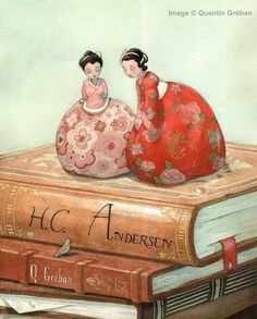 bibliolectors:  The characters leave the tales / Los personajes salen de los cuentos (ilustración de Quentin Gréban)