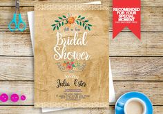fall in love bridal shower invites, bridal shower invites, fall in love bridal shower invitation #BS227 by BRIDETALKpaperie on Etsy