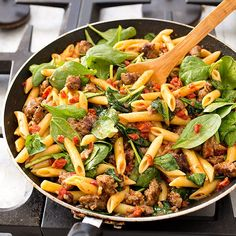 _penne_suasage_sundried_tomatoes_spinach-12 1 1/2 pounds flank steak ...