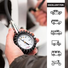 PPING Car Pressure Gauge Tyre Pressure Gauge Tires Accurate Heavy Duty Dial For Your Truck Motorcycle Easy To Read Accessories Girls Tire Gifts Men Gauge