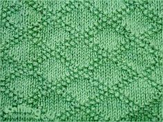 King Charles Brocade stitch  - easy to make with just knit and purl stitches, even beginners can learn how to do it.