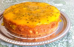 Bolo de frutas amarelas #bolos #cakes #vegan #receita #veganrecipe