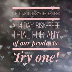 Would you like to try out new Younique products? With our excellent return policy - you can! Click through to shop.