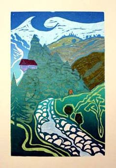 Art of Illustration   Woodcut prints by Helen Brown.