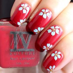 #floralnails Check out beautiful and easy nail art on my blog www.beautyintact.com