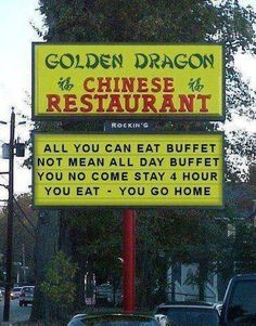 Golden Dragon Chinese Restaurant  #lol  #funnysigns  #humor
