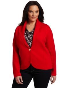 AK Anne Klein Women's Plus Size Longsleeve One Button Cardigan Anne Klein. $149.00. Long sleeve cardigan; Spandex: 44% Acrylic/43%Wool/11% Nylon/2% Lycra; Trim: 51% Acrylic/49% Wool; Made in China; One button closure; Hand Wash