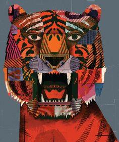 "lustik: "" New Work for AI-CIO - Christian Northeast via Illustration Age "" Illustration Photo, Illustration Children, Tiger Art, Arte Popular, Design Graphique, Illustrations And Posters, Art Design, Graphic Art, Graphic Design"