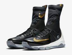 NEW NIKE KD 8 ELITE BASKETBALL SHOES BLACK/METALLIC GOLD/SAIL 834185 071 SZ 9 Clothing, Shoes & Accessories:Men's Shoes:Athletic