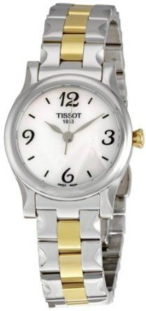 Tissot Womens T028.210.22.117.00 Mother-Of-Pearl Dial Stylis T Watch