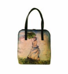 Ručne maľovaná kabelka 8192 inšpirovaná motívom Claude Monet