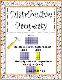 59 best math properties images distributive property of multiplication math properties. Black Bedroom Furniture Sets. Home Design Ideas