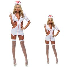 >> Click to Buy << free shipping white Sexy Nurse Costume Women Erotic Lingerie high quality Female Sexy  Red Cross nurse costume w1451 #Affiliate
