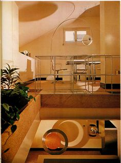 Sleek living room. Houses Architects Live In,1977