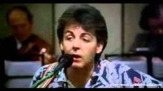 "Paul McCartney ""For No One"""