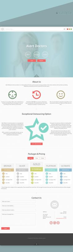 Alert Doctor | Single Page Responsive Layout Design by Shoaib Ahmad, via Behance