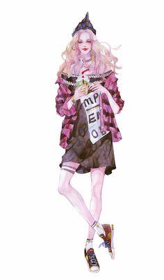 spring 青莲原创工作室-ENOFNO__涂鸦王国插画