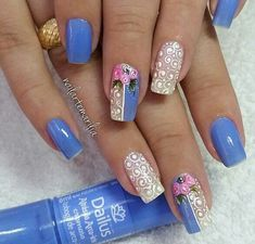 Sexy Nails, Fun Nails, Pretty Nails, Rose Nails, Flower Nails, Crazy Nails, Nail Art Diy, Nail Stamping, Simple Nails