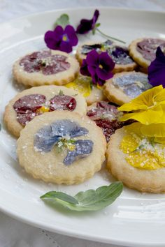 Cardamom Orange Zest Pansy Cookies  <3  PERFECT for Mother's Day & Bridal Showers!!!
