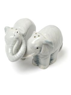 """Set of 2 Pieces 3"""" Light Grey Ceramic Hugging Elephant Salt and Pepper Shakers American Chateau http://www.amazon.com/dp/B00AAY2L2Q/ref=cm_sw_r_pi_dp_IAAiub1VEK97E"""