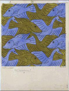 From M.C. Escher Gallery - tessellation