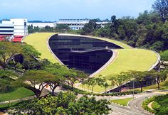 A swirling green roof tops the gorgeous Nanyang Technical University in Singapore | Inhabitat - Green Design, Innovation, Architecture, Green Building