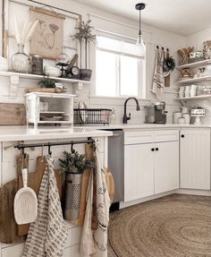 Cottage Kitchens, Farmhouse Kitchen Decor, Farmhouse Style, Natural Fiber Rugs, Natural Area Rugs, Country Sampler Magazine, Gonna Be Alright, Jute Rug, Kitchen Pantry