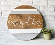 Home sweet home sign / Wood round / Home decor / Wood sign / Round sign / Signs / Home and living / Wall decor / Round wood sign / Farmhouse DIY Wood Signs Decor Farmhouse Home Living Sign Signs Sweet Wall Wood