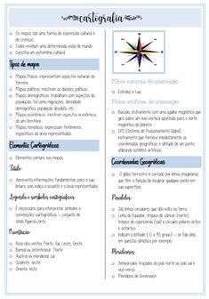 resumo de #geografia  Study Notes, Chemistry, Studs, Stationery, School, School Organization Notes, Atlas Anatomy, Drawings, Paper Mill