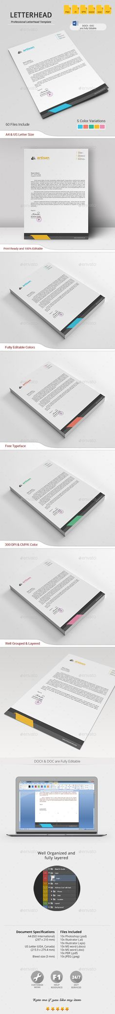 Letterhead Stationery, Templates and Design templates