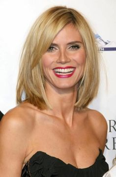 Heidi Klum-mitellange frisuren