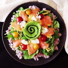 How to make Avocado Rose Sushi.