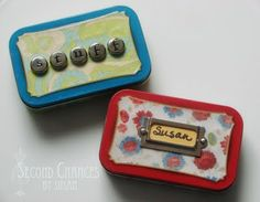 Tutorial for Emergency Purse Kits from Altoid Tins