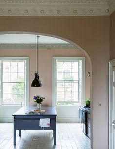 Painting kitchen cabinets white shades farrow ball 43 ideas for 2019 Painting Kitchen Cabinets White, Painting Oak Cabinets, Oak Kitchen Cabinets, White Cabinets, Kitchen Island, Painting Walls, Farrow Ball, Farrow And Ball Paint, Colores Paredes