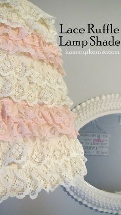Easy Layered Lace Lamp Shade