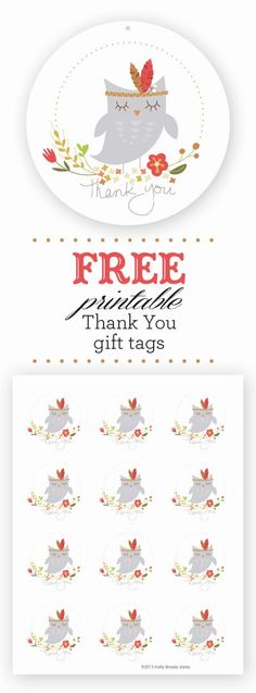 Free Printable Thank You Tags Best Of Holly Brooke Jones Free Owl Printable Thank You Gift Tags Free Printable Tags, Owl Printable, Free Printables, Thank You Printable, Thank You Tags, Thank You Gifts, Free Prints, Diy Gifts, Web Design