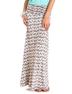Tribal Print Knit Maxi Skirt: Charlotte Russe