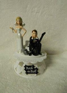 Wedding Funny Cake Topper Custom Rock & Roll Guitar Music Band Custom Design Wedding Supplies by Suzanne http://www.amazon.com/gp/product/B00IC31K7O/ref=as_li_qf_sp_asin_il_tl?ie=UTF8&camp=1789&creative=9325&creativeASIN=B00IC31K7O&linkCode=as2&tag=divinetreas03-20&linkId=JTTHDKN6LZV6AGY6