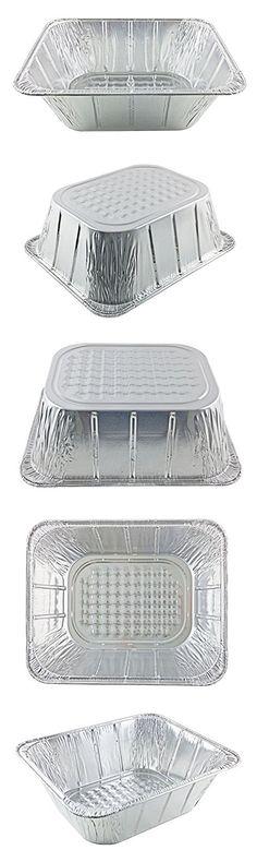 "HFA Handi-Foil Half-Size (1/2) 4"" Extra-Deep Alumium Steam Table Roaster Pan (pack of 10)"