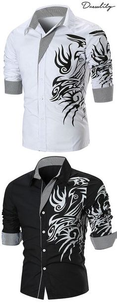 Casual Shirts for Men Buy new arrivals & latest Casual Shirts for Men from Dre Traje Casual, Casual Wear, Cool Outfits, Fashion Outfits, Womens Fashion, Casual Outfits, Cool Shirts, Men Shirts, Mens Printed Shirts