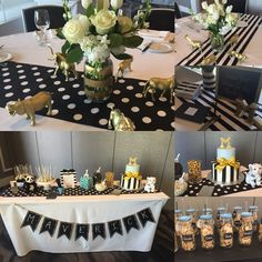Black, white and gold baby shower.