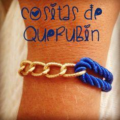 Pulsera Cositas de Querubin Azulina con cadena 3,5 €