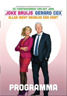 Vormgeving en DTP door GoDutchDesign. Joke Bruijs en Gerard Cox in dé theatercomedy van het jaar, Alles Went Behalve Een Vent, gebaseerd op de bestseller van Yvonne Kroonenberg.