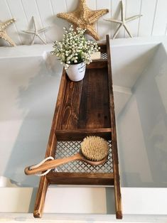 Excited to share this item from my shop: Bath Tray , Recycled Pallet Wood , Rustic Style , Dark Stained Recycled Pallets, Wood Pallets, Pallet Wood, Pallet Tray, Recycled Wood, Pallets Garden, Diy Pallet Sofa, Diy Pallet Projects, Pallet Ideas